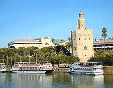 Photo of Guadalquivir river over the city of Seville