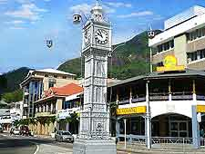 Picture of the Seychelles Lorloz Clock Tower on Francis Rachel Street, Victoria, Mahe