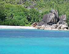 Further picture of beach on Curieuse Island