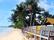 Photo of beachfront lodge on La Digue, Seychelles