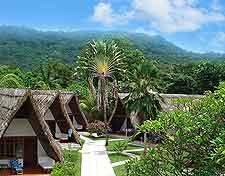Photo of lodge accommodation on La Digue Island, Seychelles