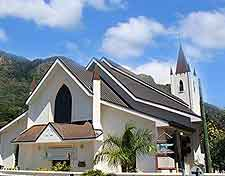 Picture of church located on the Seychelles island of Mahe