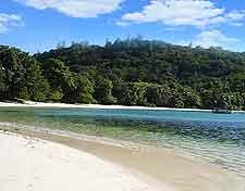 Image of beach at Mahe's Port Launay Marine National Park