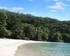 Further photograph of beachfront at the Port Launay Marine National Park, Mahe, Seychelles