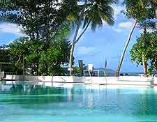 Photograph of pool at the Le Meridien Barbarons, Victoria, Mahe