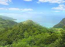 View of Mahe's verdant Morne Seychellois National Park