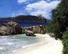 Photo showing La Plage vue des Rochers, Victoria, Mahe Island, Seychelles