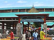 Photo of market at Victoria, capital of the Seychelles