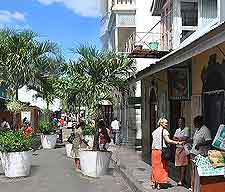 Photo of shopping at Victoria, capital of the Seychelles