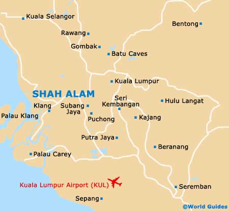 Small Shah Alam Map
