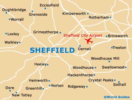 Small Sheffield Map