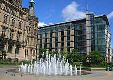 Picture of fountains outside the Town Hall