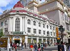 Image of central shopping district