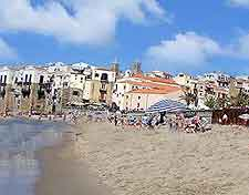 Photograph of beach in the tourist village of Cefalu