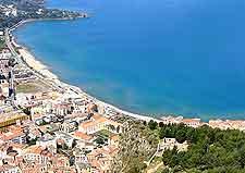 Aerial photo of beachfront at Cefalu