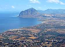Aerial photo showing the medieval town of Erice