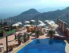 Image of outdoor swimming pool at Hotel Villa Sonia, Via Porta Mola, Castelmola, Sicily