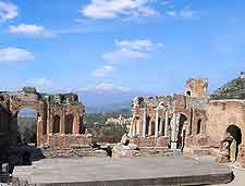 Picture of ancient attractions in Taormina