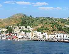 Picture of Lipari, the biggest of the Aeolian Islands