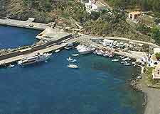 Photograph of beachfront attractions on the small island of Ustica
