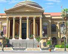 View of grand architecture in Palermo, Sicily