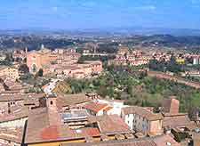 Rooftop view over Siena