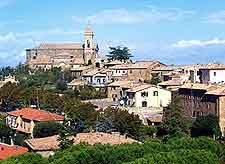 View of the hilltop town of Montalcino