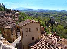 Rooftop photo showing Montepulciano