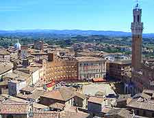 Aerial photograph of the Piazza del Campo