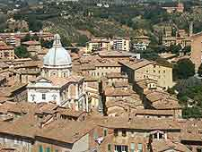 Further rooftop view of Siena