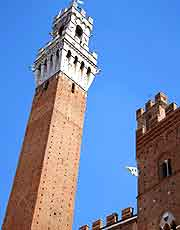 Photo of the hard-to-miss Torre del Mangia