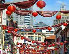 Image showing the paper lantern decorations at local Chinatown festival
