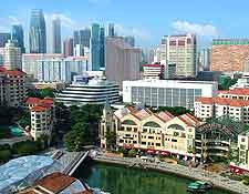 View of Singapore's busy Clarke Quay
