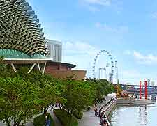 View of the Esplanade and the Singapore Flyer