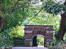 View of historic Fort Canning