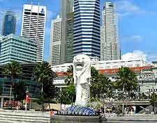 Picture of Singapore's iconic Merlion landmark
