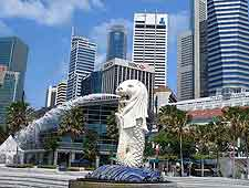 Picture of Singapore's famous Merlion fountain