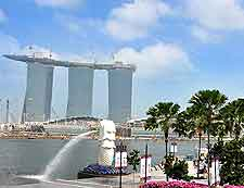Picture of Merlion Park, with the Marina Bay Sands Hotel in the background