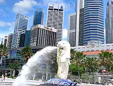 Image of Singapore's iconic Merlion fountain