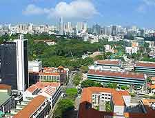 Aerial photo showing the famous Orchard Road, Singapore City