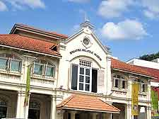 Photograph of the Singapore Philatelic Museum, located on Coleman Street