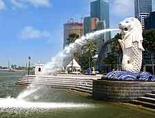 Image of the Merlion waterfront
