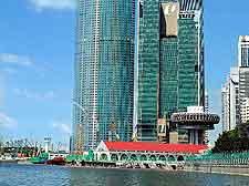 Riverside view of skyscrapers