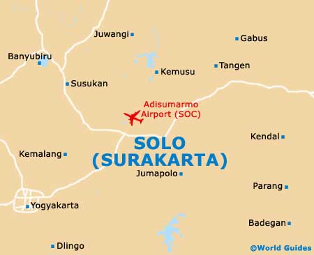 Solo Maps and Orientation Solo Central Java Indonesia
