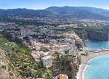 Aerial photograph of the Naples shoreline