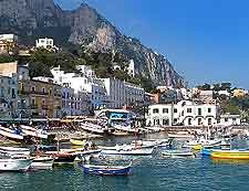 Photo of boats at the Isle of Capri
