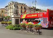 Photo of sightseeing tourist bus