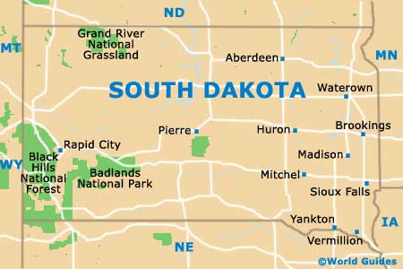 Pierre Maps And Orientation Pierre South Dakota USA - Map of sd
