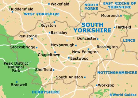 South Yorkshire map