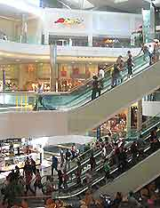 Interior photo of the WestQuay Mall